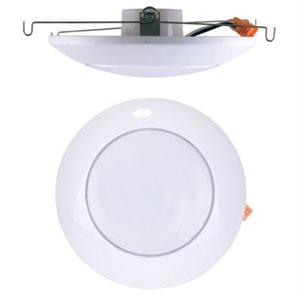 Plafonnier, DEL, finition blanche, 13 watts, 4000k