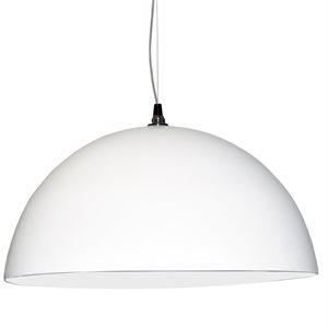 Luminaire suspendu, finition blanche, 3 X A19