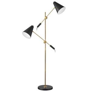 Lampe de plancher, finition noir mat et bronze, 2 X A19