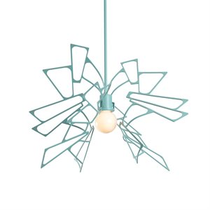 Luminaire suspendu, finition satin aqua, 1 X G25