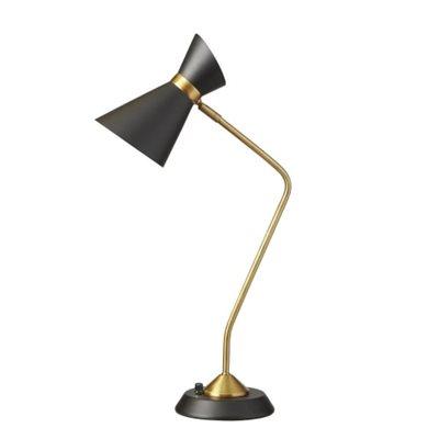 Lampe de lecture, finition noir mat et bronze vintage, 1 X A19