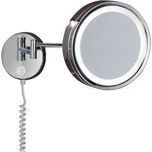Miroir lumineux mural interrupteur intégré, DEL, finition chrome, 9 watts, 4000K