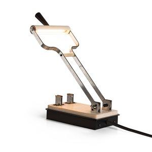 Lampe de lecture DEL, finition noire et bois, 6 watts, 3000K