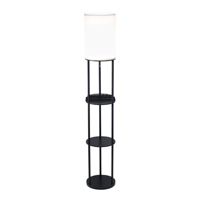 Lampe de table, finition noire, 1 X A19