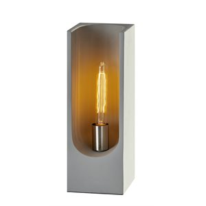 Lampe de table, finition grise, 1 X T9