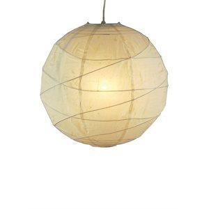 Luminaire suspendu, finition naturel, 1 X A19