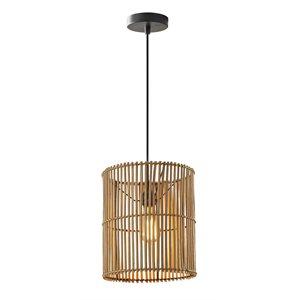 Luminaire suspendu, finition bronze foncé, 1 X A19