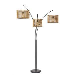 Lampe de plancher, finition bronze foncé, 3 X ST19