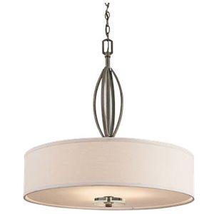 Luminaire suspendu, finition bronze, 3 X A19