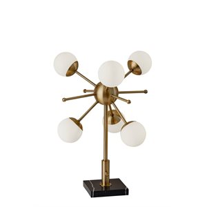Lampe de table DEL, finition antique brossé, 18 watts, 3000K