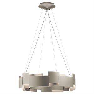 Luminaire suspendu, DEL, finition nickel satiné, 50 watts, 2800K