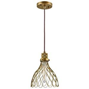 Luminaire suspendu, finition bronze, 1 X A19
