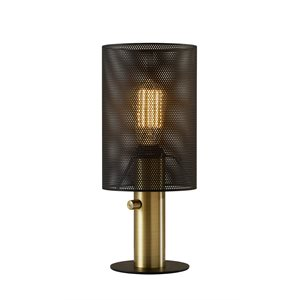 Lampe de table, finition noire, 1 X ST19