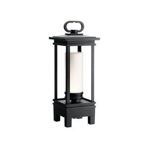 Lampe de table avec haut parleur bluetooth, DEL, finition bronze, 3000K