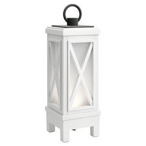 Lampe de table avec haut-parleur bluetooth, DEL, finition blanche, 3000K