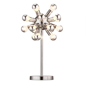 Lampe de table, finition chrome, 18 X G16.5