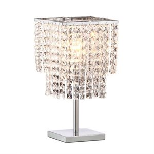 Lampe de table, finition crystal chrome, 1 X A19