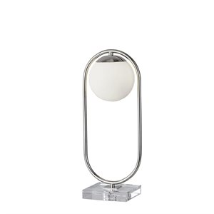 Lampe de table, finition nickel poli, 1 X G9