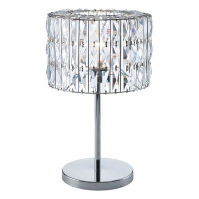 Lampe de table, finition crystal chrome, 1 X A19
