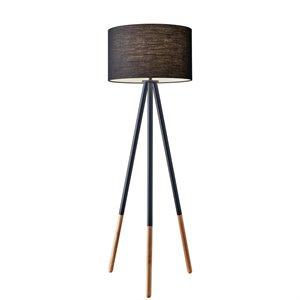 Lampe de plancher, finition noire, 1 X A19