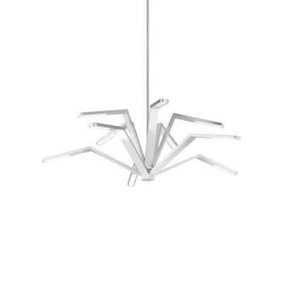 Luminaire suspendu, DEL, finition nickel satiné, 95 watts, 3000K