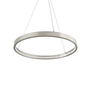 Luminaire suspendu, DEL, finition nickel satiné, 32 watts, 2400K
