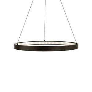 Luminaire suspendu, DEL, finition bronze antique, 32 watts, 3000K