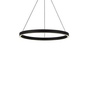Luminaire suspendu, DEL, finition noire, 80 watts, 3000K