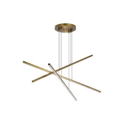 Luminaire suspendu DEL, finition laiton vieilli, 20 watts, 3000K