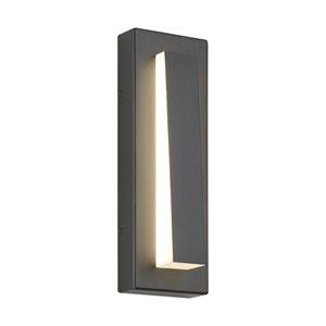Luminaire extérieur DEL, finition charcoal, 22 watts, 3000K