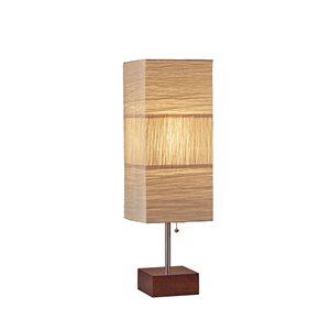 Lampe de table, finition nickel brossé, 1 X A19