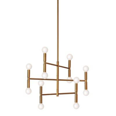 Luminaire suspendu, finition bronze vintage, 12 X culot E12