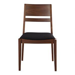 Chaise, finition noire et noyer