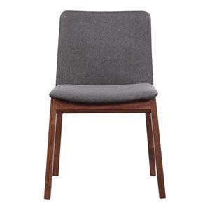 Chaise, finition grise et bois