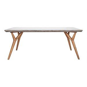 Table de salle à manger en béton naturel