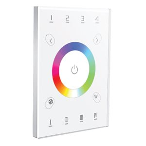 Wall controller for white and RGB, multi-zones