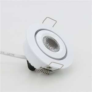 Encastré orientable DEL, finition blanche, 3 watts, 45 degrés