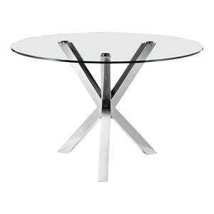 Table de salle à manger en verre trempé
