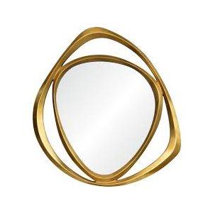 Mirror, gold finish