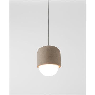 Luminaire suspendu DEL, finition gris béton, 6,5 watts, 3000K