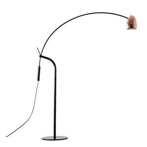 Lampe de plancher DEL, finition noir mat, 12 watts, 3000K