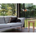 Lampe de plancher, finition noir mat et cuivre, 1 X A19