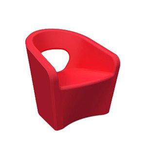 Exterior chair, red finish