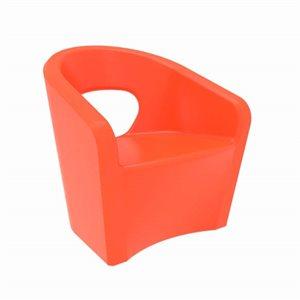 Exterior chair, orange finish