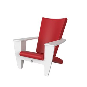 Exterior chair, red and white finish